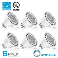 Dimmable MR16 GU5.3 LED Light Bulb, 7W (50W Equivalent), ENERGY STAR, 490lm, 3000K Warm White, 40° Beam Angle, Damp Location Available, 12V, 3 YEARS WARRANTY, Pack of 6 #Dimmable #Light #Bulb, #Equivalent), #ENERGY #STAR, #Warm #White, #Beam #Angle, #Damp #Location #Available, #YEARS #WARRANTY, #Pack