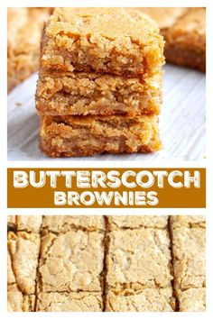 Chewy and delicious butterscotch brownies! These blondie bars are rich and delicious made with brown sugar. Chewy and delicious butterscotch brownies! These blondie bars are rich and delicious made with brown sugar. Butterscotch Blondie Recipe, Butterscotch Brownies, Brownie Recipes, Cookie Recipes, Dessert Recipes, Bar Recipes, Brownie Desserts, Blender Recipes, Kitchen Recipes