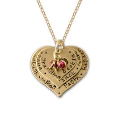 The Gold Vintage Heart 3 Layered Personalized Necklace