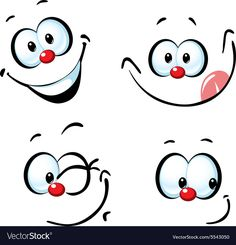 Illustration of funny vector cartoon face - smiling vector art, clipart and stock vectors. Cartoon Faces Expressions, Funny Cartoon Faces, Cartoon Clip, Cartoon Eyes, Cute Cartoon, Drawing Challenge, Doll Face, Painting & Drawing, Drawing Tips