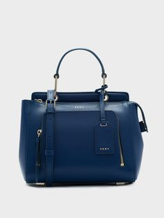Small Top Handle Satchel Bright Lapis