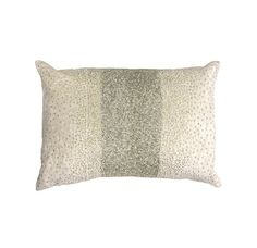 CHAMPAGNE WITH SILVER AND CLEAR BEADING PILLOW[ available online ]