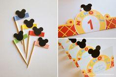 banderines de Mickey Mouse