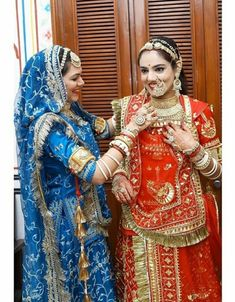 Rajasthani Bride, Rajasthani Dress, Indian Bridal Outfits, Indian Bridal Fashion, Dress Indian Style, Indian Dresses, Indian Wear, Patiala, Salwar Kameez