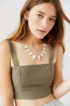 Luv Aj Marble Triangle Necklace
