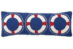 Nautical 9x26 Pillow, Blue on OneKingsLane.com