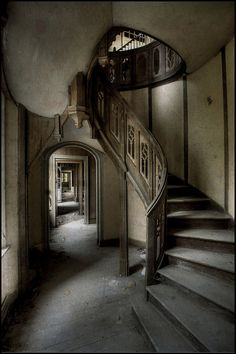 Staircase in Chateau by Romany WG