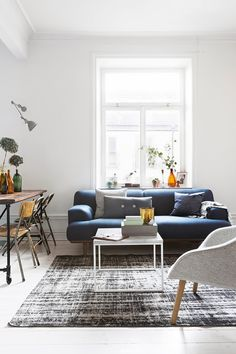 Nice living area. I especially like the industrial dining room furniture, the lovely old glass bottles and the general styling of the space. There wasn't any info/photographer acknowledgement/source given on the site I pinned this from. If anyone knows I'd be keen to find out.
