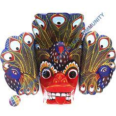 Handmade Traditional Sri Lanka mask Mayura Raksha, home talisman, symbol, decor in Home & Garden, Home Décor, Masks   eBay