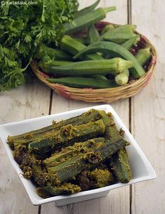 Bhindi Masala (   Zero Oil Recipe)