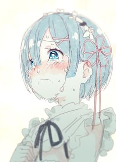 re:zero kara hajimeru isekai seikatsu, ReZero, rem Manga Anime, Art Anime, Anime Art Girl, Manga Art, Anime Girls, Chibi, Rem Re Zero, Anime Girl Crying, Ram And Rem