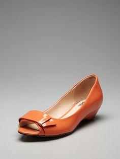 Pour La Victoire Rin low-wedge peep-toe ballet flat
