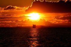 Van Gölü'nde gün batımı…