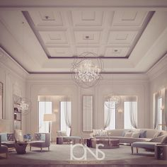 Living area Design • Private Palace • by IONS DESIGN
