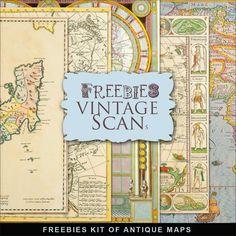 Far Far Hill: New Freebies Kit of Antique Maps