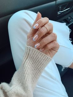 Blue French Tip Nails Ongles Baby Blue, Baby Blue Nails, Pastel Blue Nails, Dream Nails, Love Nails, My Nails, Pointy Nails, Fancy Nails, Colored French Tips