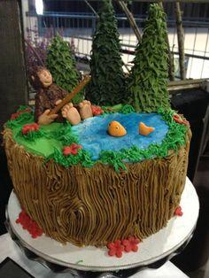 Big Foot Birthday Cake - *tys next themed birthday! Monster Birthday Parties, Birthday Fun, Birthday Cakes, Camping Birthday Cake, Birthday Ideas, Birthday Design, Bigfoot Birthday, Bigfoot Party, Paul Cakes