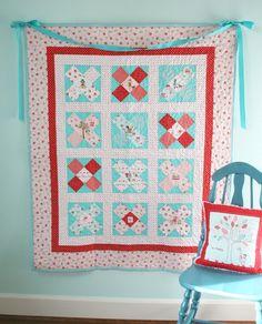 Tutorial for Little X Quilt from Tasha @ a little sweetness
