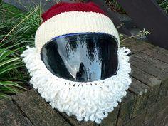 Knitting Pattern for Santa Motorcycle Helmet Crochet Cover