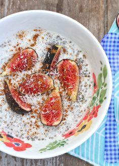 fig + chia pudding   vegan, gluten free + paleo    5 minute healthy breakfast recipe