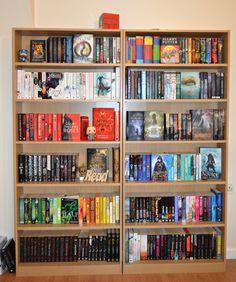 "boneseasonofglass: "" Had to move my bookshelves because the floor is uneven in my room -_- In also re-arranged them slightly :) "" I Love Books, Books To Read, My Books, Dream Library, Library Books, Bookshelf Inspiration, Bookshelf Ideas, Bookshelf Organization, Diy Rangement"