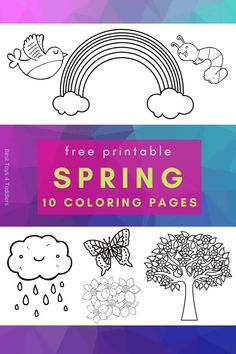 Free Spring Coloring Pages for Toddlers and Preschoolers Spring Coloring Pages, Coloring Pages For Kids, Coloring Books, Preschool At Home, Toddler Preschool, Preschool Ideas, Play Based Learning, Preschool Learning Activities, Toddler Coloring Book