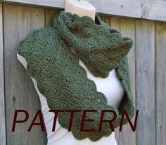 Infinity Scarf Crochet Pattern in Scalloped by CandacesCloset, $5.00