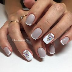 Manicure gray looks great on short nails and the gray varnish looks good no matter what coating you use on polish or gel polish. Nail polish gray looks good in combination with black, white, pink a… Fabulous Nails, Gorgeous Nails, Love Nails, Pretty Nails, Nail Photos, Best Nail Art Designs, Elegant Nails, Creative Nails, Diy Nails