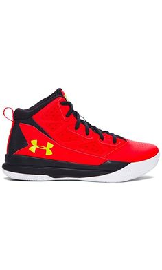 Under Armour Boys' Grade School UA Jet Mid Basketball Shoes 7 ANTHEM RED Best Price