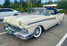 1957 Ford Fairlane 500 Sunliner Ford Fairlane, Old Cars, Antique Cars, Antiques, Vehicles, Classic Cars, Vintage Cars, Antiquities, Antique