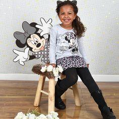 Minnie s'invite sur cette tenue ultra #girly ! Retrouvez-la vite sur www.tous-les-heros.com pour ravir votre fille. #mode #enfants #modeenfant #touslesheros #lamodeàpetitprix #disney