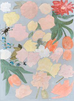 yukikitazumi:[flowers] collage ,acrylic paint ,