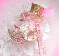 Pretty pastel pink mask