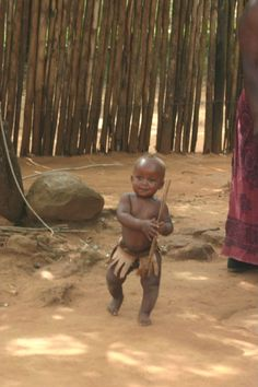 Baby Dance (Budding Zulu warrior, a photo from KwaZulu-Natal, East |