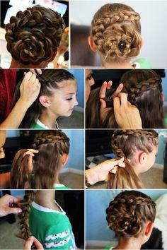 Dutch Flower Braid Hairstyle – DIY [video]