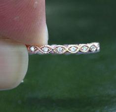 Fine Rings jz Discreet Sterling Silver 4 Millimetri Band Ring Millgrain