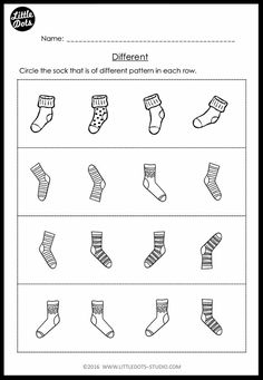 Pre-K Same and Different Worksheets and Activities