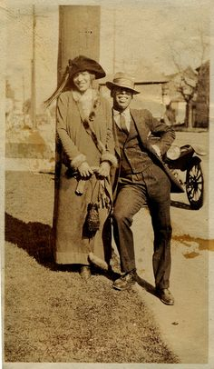 """Ernestine & Racehorse Billy The back reads: """"This is not my girl, but she is my racing partner & one of the best around here. Her name is Ernestine, and the fellow is Racehorse Billy."""" [Donated by the Earl McCann Collection] ©WaheedPhotoArchive, 2011 American Women, African American Fashion, American Photo, African American History, Vintage Pictures, Old Pictures, Old Photos, Vintage Images, Vintage Black Glamour"""