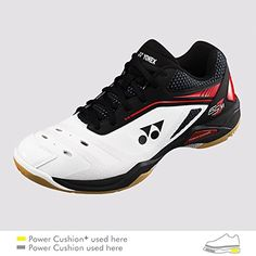 Humor Yonex Mens Power Cushion 03zm Badminton Shoes white Sporting Goods