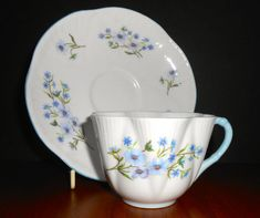 Shelley China Blue Rock Cup & Saucer