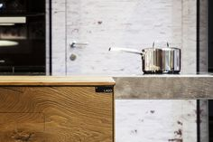 Steel kitchen worktop / table STEEL by Lago design Daniele Lago