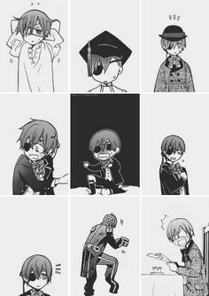 Lol whoever thought he could look so cute and awkward | Ciel Phantomhive | Kuroshitsuji