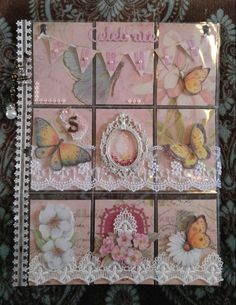 #32- K and Co paper, dimensional butterflies and flowers. To Susan W in GA.