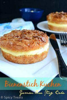 Bienenstich Kuchen   German Bee Sting Cake