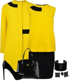 """Yellow"" by terry-tlc on Polyvore"