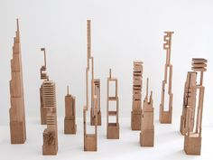 James McNabb - Cityscapes  Wonder if there is a way that my students could make something like this to group together??