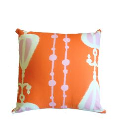 Orange Ikat Pillow Cover  banquet/couch/chairs