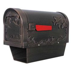 Hummingbird Copper Curbside Mailbox With Paper Tube Special Lite Products Company Post Mou