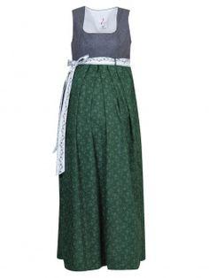 Moser Daisy Umstandskleid, grau-grün, Träger