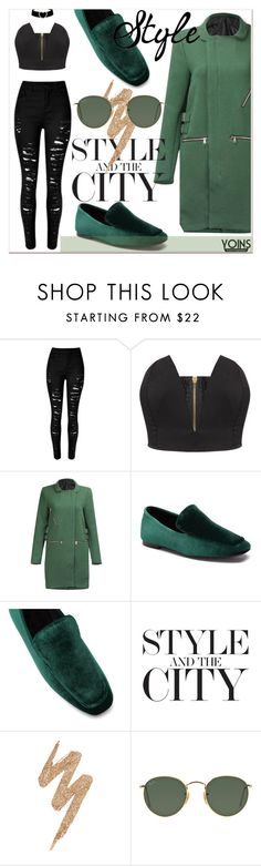 """""""OOTD x YOINS"""" by gigi-lucid ❤ liked on Polyvore featuring Urban Decay, Ray-Ban, yoins, yoinscollection and loveyoins"""